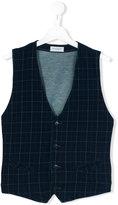Paolo Pecora Kids - checked waistcoat - kids - Cotton/Spandex/Elastane - 14 yrs