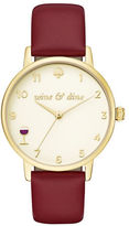 Kate Spade Metro Stainless Steel, Leather Wine and Dine Watch