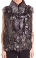 Vince Silver Fox Fur Vest