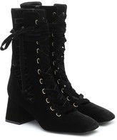 Thumbnail for your product : Zimmermann Lace-up velvet ankle boots