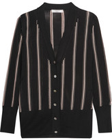 Lanvin Striped Knitted Cardigan - Black