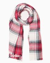 Charming charlie Bright Tartan Plaid Blanket Scarf