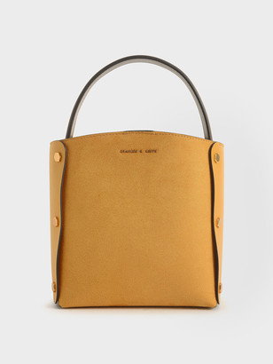 Charles & Keith Textured Bucket Bag