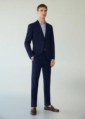 MANGO MAN - Super slim-fit checked Tailored blazer navy - 40 - Men