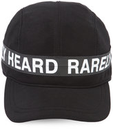 Mostly Heard Rarely Seen logo print cap