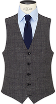 John Lewis Wool Check Tailored Waistcoat, Charcoal