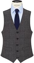 John Lewis Wool Check Tailored Waistcoat, Charcoal