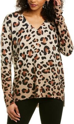 InCashmere Animal Print Cashmere Sweater