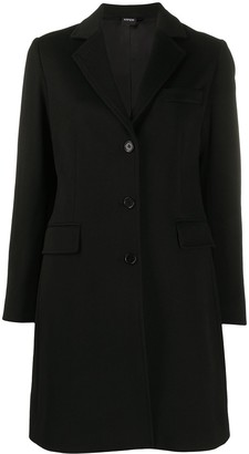 Aspesi Fitted Single-Breasted Wool Coat