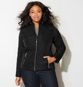 Avenue Knit Side Quilted Motorcycle Jacket