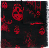 Alexander McQueen skull and badge scarf