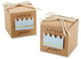 Kate Aspen Little Prince Kraft Favor Box - Blue/Brown (Set of 24)