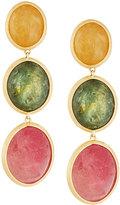 Marco Bicego 18k Multicolor Sapphire Triple-Drop Earrings