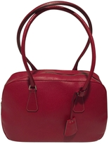 Prada Red leather bowling bag