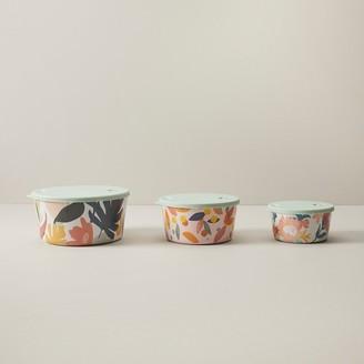 Indigo Tropical Melamine Potluck Bowls Set Of 3