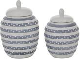 Willow Row Multi Colored Ceramic Coastal Decorative Jar – Set of 2