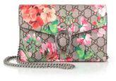 Gucci Dionysus Geranium-Print Coated Canvas Chain-Strap Wallet