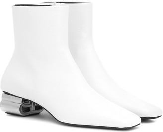 Balenciaga Typo leather ankle boots