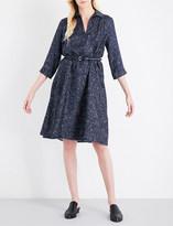 Max Mara Alete silk-twill shirt dress