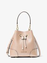 Michael Kors Mercer Gallery Small Pebbled Leather Shoulder Bag