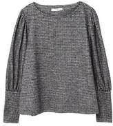 MANGO Houndstooth blouse