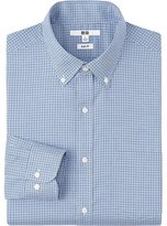 Uniqlo Men Easy Care Slim Fit Checked Long Sleeve Shirt