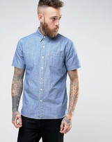 Levis Sunset One Pocket Shirt Short Sleeve Guardsman Chambray Wash