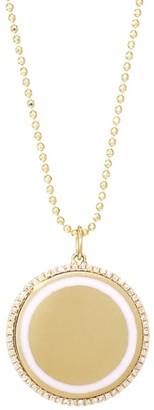 Ef Collection 14K Yellow Gold, Diamond & Enamel Disc Pendant Necklace