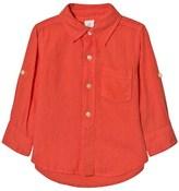 Gap Blood Orange Linen Shirt