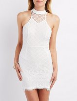 Charlotte Russe Eyelash Lace Bodycon Dress