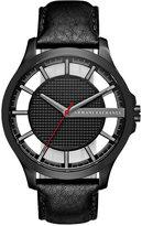 Armani Exchange A X Men's Black Leather Strap Watch 46mm AX2180