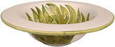 One Kings Lane Vintage Hand-Painted Serving Bowl - Galleria d'Epoca - green/white