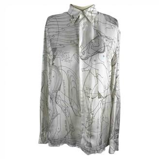 Hermes Ecru Silk Tops