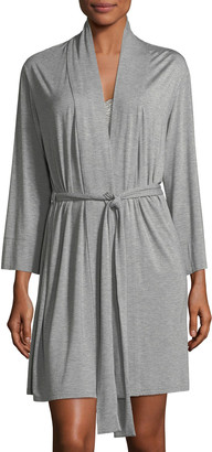 Natori Feathers Essential Short Jersey Robe