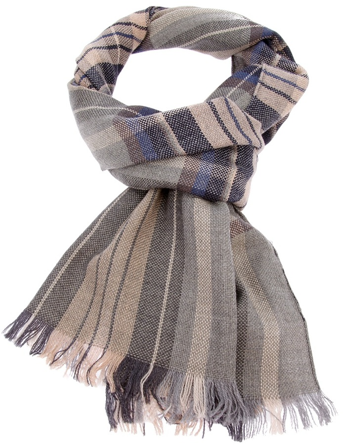 Mr Start Check Woven Wool Scarf