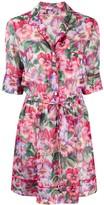 Dolce & Gabbana Hibiscus-print short dress