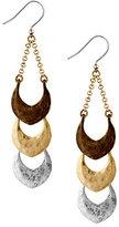 Lucky Brand Tri-Tone Linear Drop Earrings