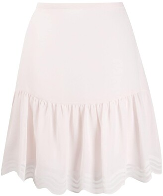 See by Chloe Scalloped Georgette Mini Skirt