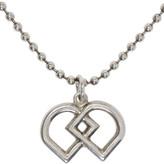 DSQUARED2 Silver Ball Chain Logo Necklace
