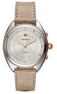 Michele Tan Lizard & Silicone Strap Hybrid Smartwatch, 38mm