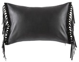 BCBGeneration Fringe Benefits Faux Leather Pillow