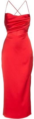 Rasario criss-cross midi dress