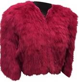 Miu Miu Pink Fur Jacket