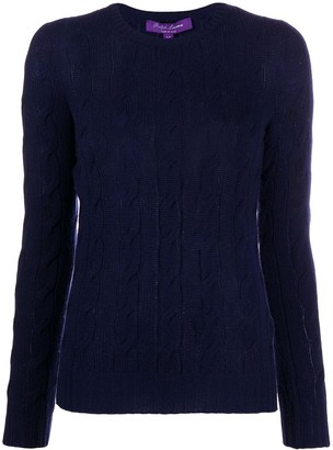 Ralph Lauren Collection Cable Knit Cashmere Jumper
