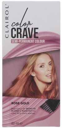 Clairol Color Crave 45ML Washout Hair Makeup Shimmering Rose Gold