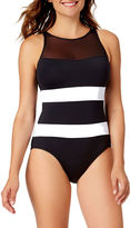 Liz Claiborne Solid One Piece Swimsuit