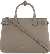 Burberry Banner medium checked trim leather tote