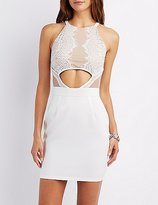 Charlotte Russe Cut-Out Lace Bodycon Dress