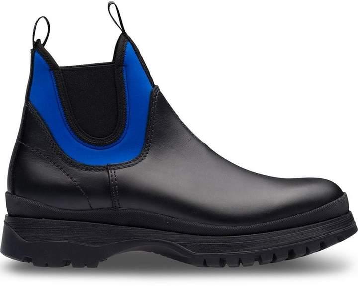 Prada colour-block ankle boots