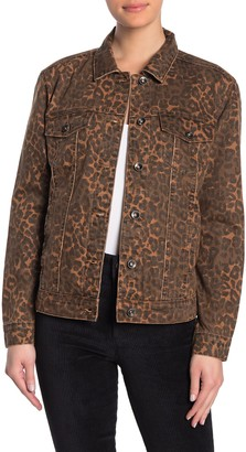 Tractr Relaxed Fit Leopard Print Jacket
